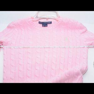 9acb173047 Ralph Lauren Blue Label Sweaters - Ralph Lauren Sport Sweater Pink Braid  Knit Sz S
